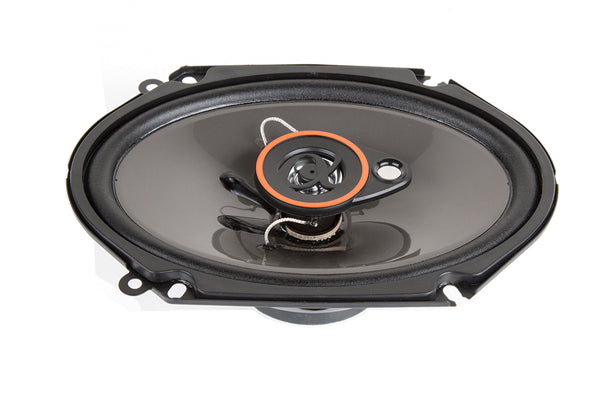 AS68 1 Pair 6x8 inch 350 Watts Max 3-Way Car Audio Coaxial Speakers