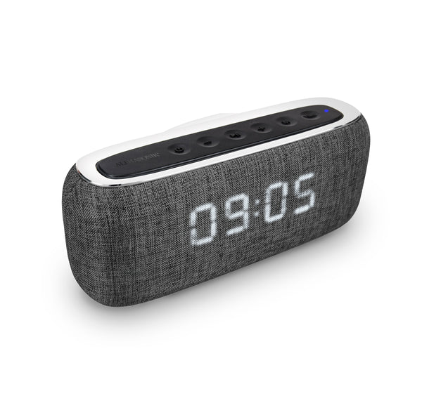 Alphasonik CHARM Wireless Bluetooth Portable Speaker with Digital LED Alarm Clock (*Military Time ONLY*)