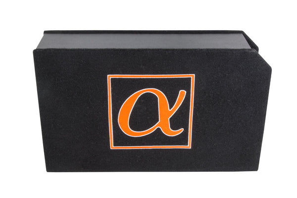 Alphasonik Dynamis DCP8 8 inch 1000 Watts 4-Ohm Shallow Mount Flat Enclosed Sub woofer in Ported Vented Box for Tight Spaces in Cars and Trucks, Slim Thin Loaded Subwoofer Custom Port Bass Enclosure