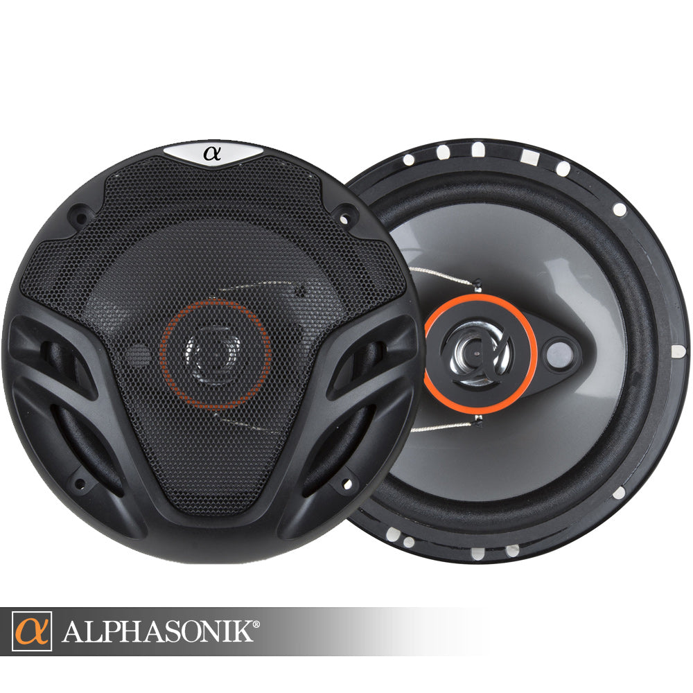 AS26 1 Pair 6.5 inch 350 Watts Max 3-Way Car Audio Coaxial Speakers