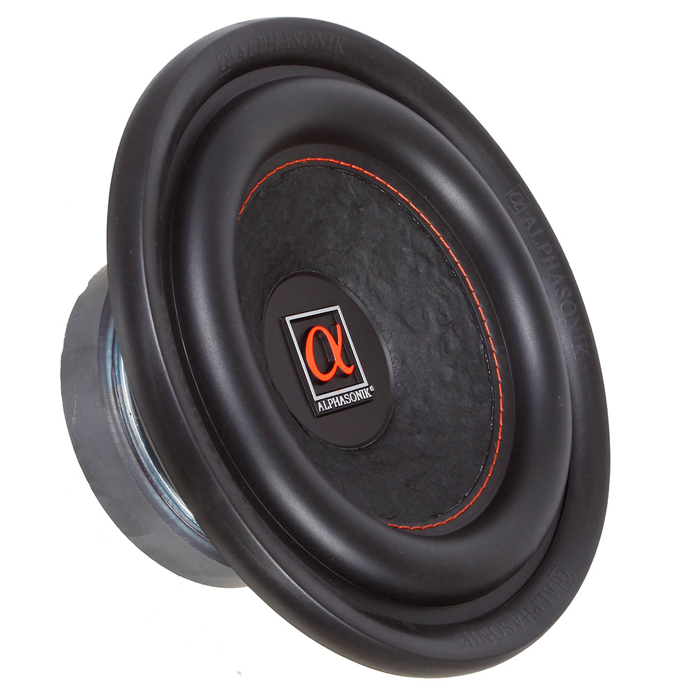 "Alphasonik HSW208 Hyper 200 Series 8"" 600 Watts Max / 200 Watts RMS Single 4 Ohm Car Subwoofer Stamped Alpha Steel Basket with High Grade Magnet Non Pressed Paper Cone Audio Speaker Bass Sub Woofer"