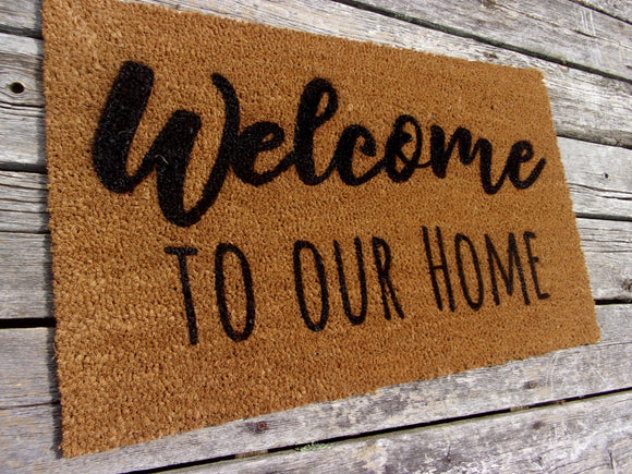 Welcome to our home doormat