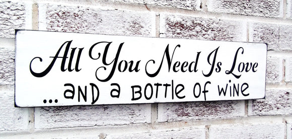 All you need is love and a bottle of W*ne