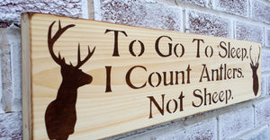 To go to sleep I count antlers not sheep - rustic