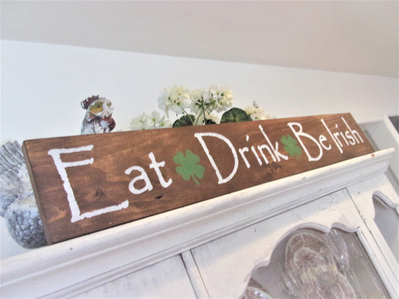 Eat, Drink & Be Irish sign