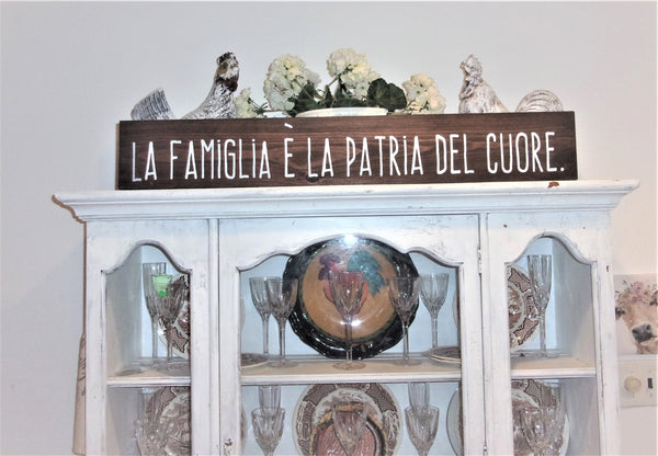 La famiglia e la patra del cuore - The family is the heart of the home IN ITALIAN