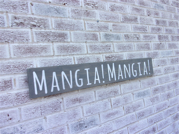 Mangia Mangia sign - Eat, Eat IN ITALIAN
