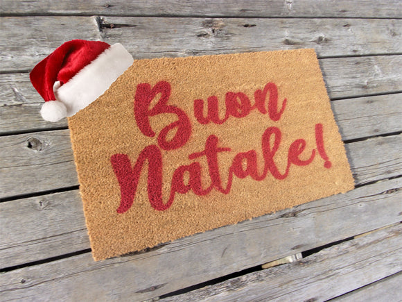 Buon Natale Merry Christmas doormat