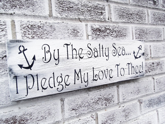 By the salty sea I pledge my love to thee