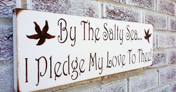 By the salty sea I pledge m love to thee