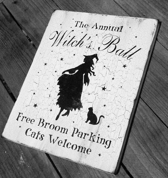 The Annual Witch's Ball Free broom parking cats welcome