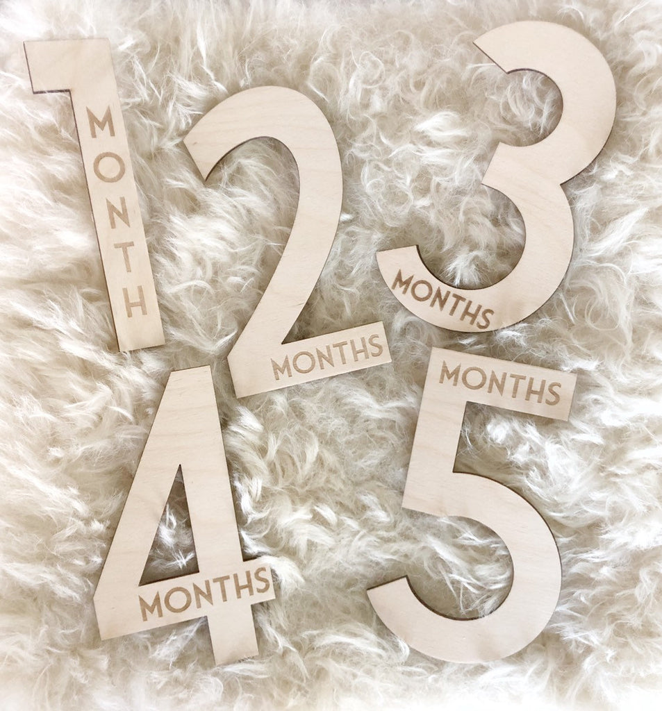 baby milestone number blocks