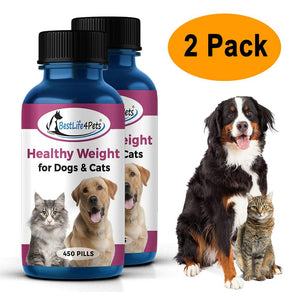 Healthy Weight for Dogs and Cats - Safe, Proven Weight Loss for Overweight Pets (450 pills)