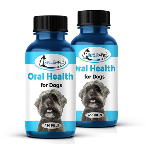 Oral Health for Dogs  - Helps Gingivitis, Bad Breath and Periodontal Disease  (450 pills)