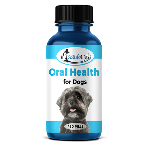Image of Oral Health for Dogs  - Helps Gingivitis, Bad Breath and Periodontal Disease  (450 pills) - BestLife4Pets