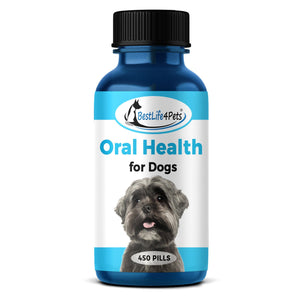 Oral Health for Dogs  - Helps Gingivitis, Bad Breath and Periodontal Disease  (450 pills) - BestLife4Pets