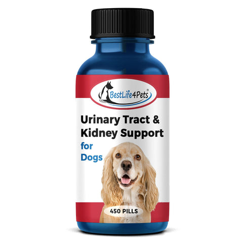Urinary Tract Infection and Kidney Support Remedy for Dogs (450 pills) - BestLife4Pets