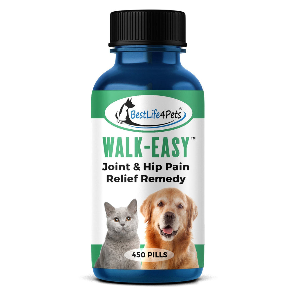 WALK-EASY Joint and Hip Pain Relief Remedy for Dogs and Cats (450 pills) - BestLife4Pets
