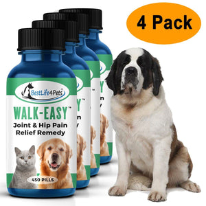 WALK-EASY Joint and Hip Pain Relief Remedy for Dogs and Cats (450 pills)