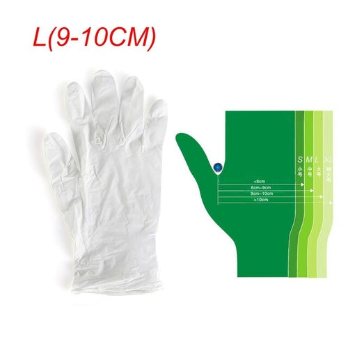 100pcs Disposable Nitrile Latex Gloves White - Urban Emergency Survival Kits