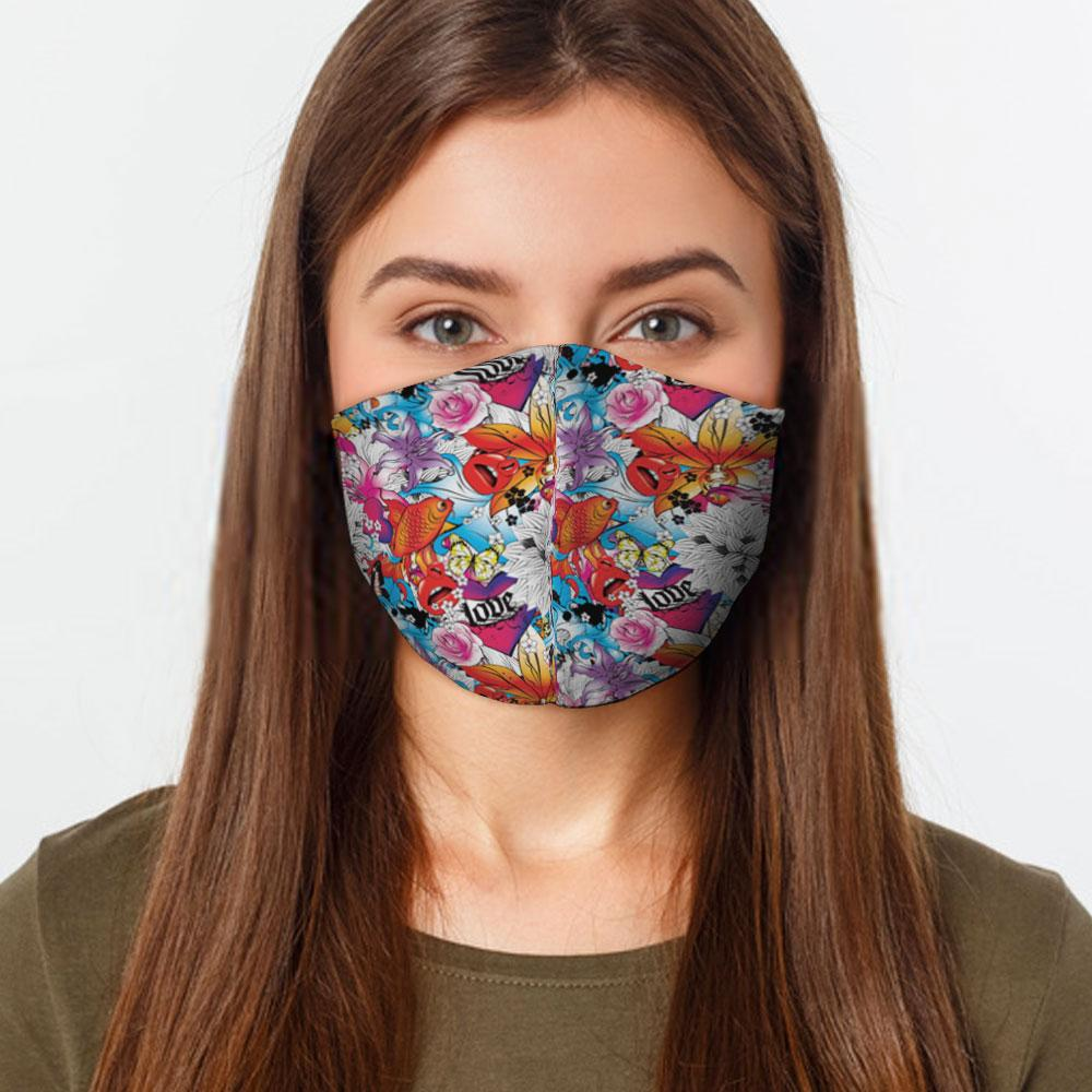 Tattoo Love Preventative Face Mask - Urban Emergency Survival Kits