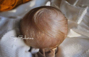 Reborn baby Darren blonde hair