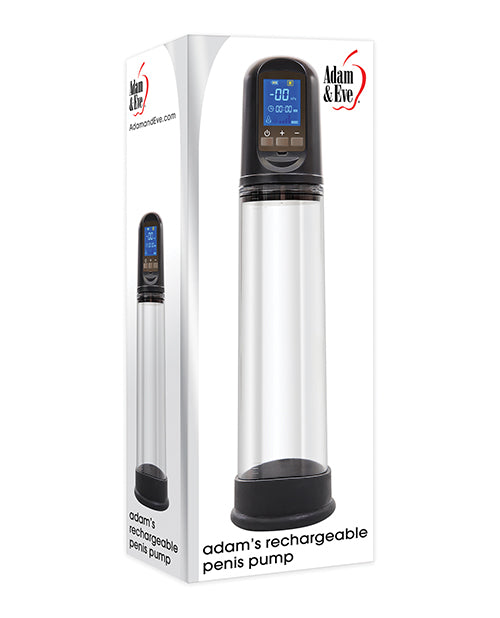 Adam & Eve Adam's Rechargeable Penis Pump - Black
