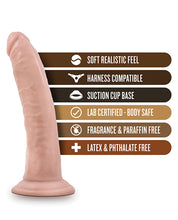 "Blush Dr. Skin 7"" Cock w/Suction Cup - Vanilla"