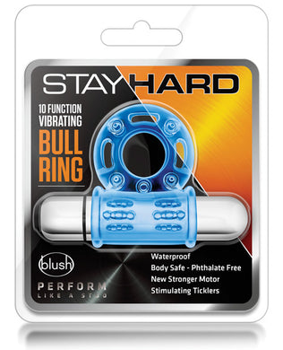 Blush Stay Hard 10-Function Vibrating Bull Ring Cock Ring