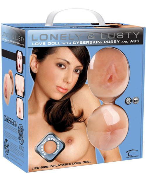 CyberSkin Lonely & Lusty Inflatable Love Doll w/Pussy & Ass