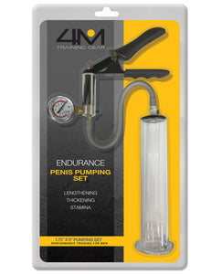 "4M Training Gear Endurance 1.75"" X 9"" Penis Pumping Set - Clear"