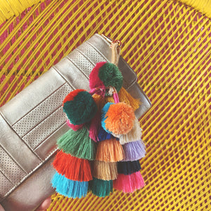 pom pom & tassel bag charm/key ring