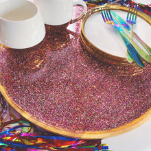 glitter tray - wooden base