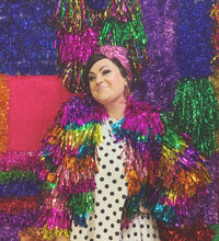 rainbow tinsel jacket