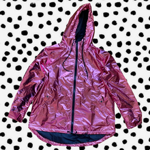 metallic windbreaker - pink