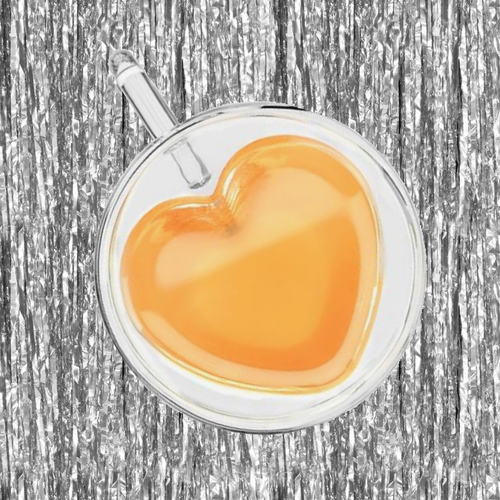 heart shaped tea cup