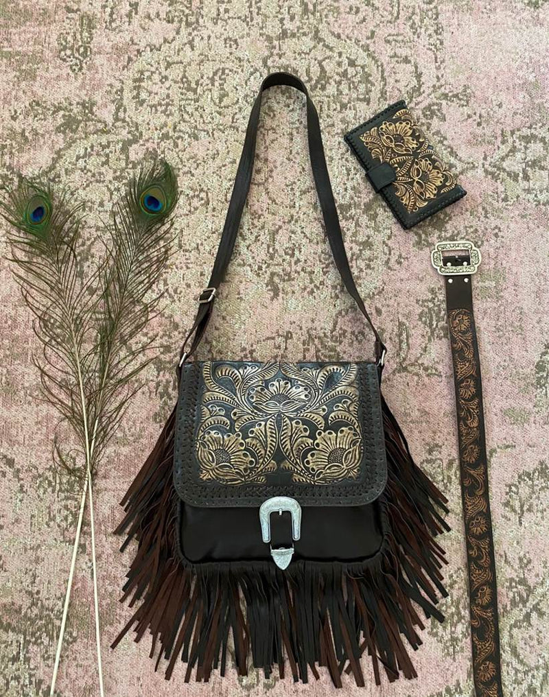 Leather Bag Sunflower