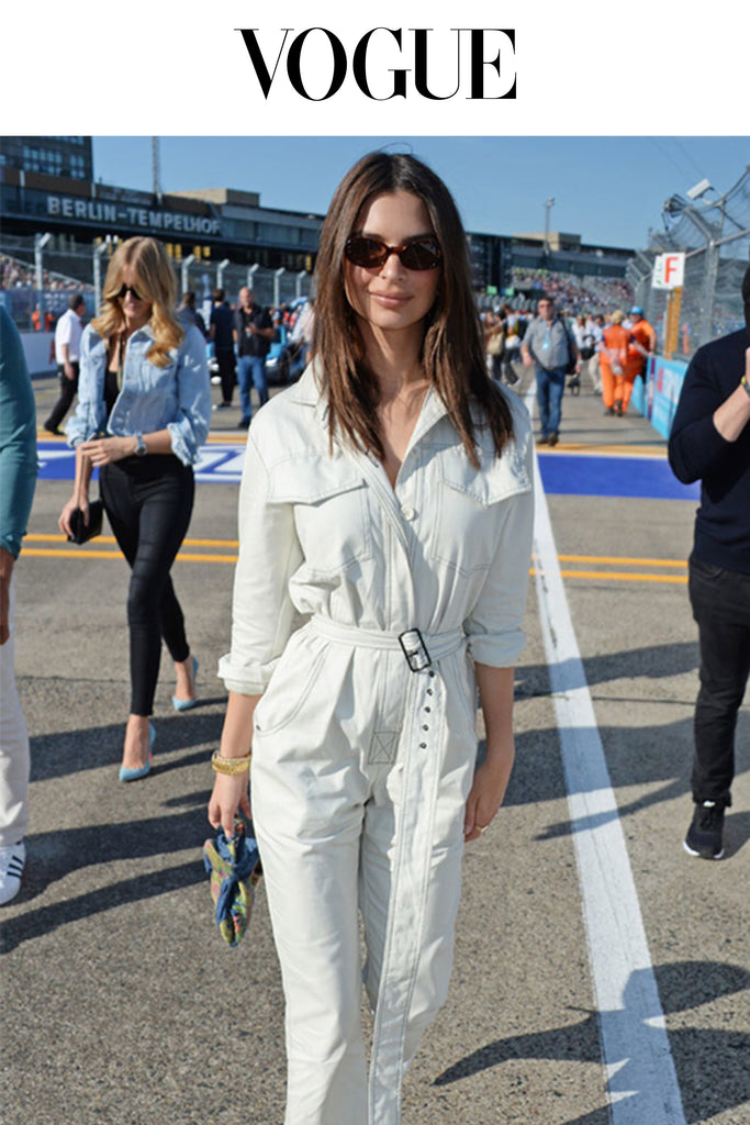 Emily Ratajkowski Carries Hayward to The Race Course
