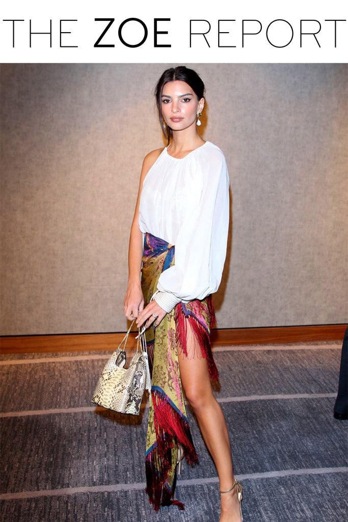 5 Snakeskin Bags Like Emily Ratajkowski's That Will Pair Perfectly With Your Winter Wardrobe