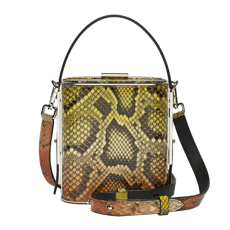 bb9f402849 Field bag in Dusky Orange Python – Hayward Luxury