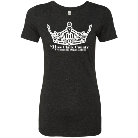 Image of Miss Clark County - Personalized Triblend T-Shirt