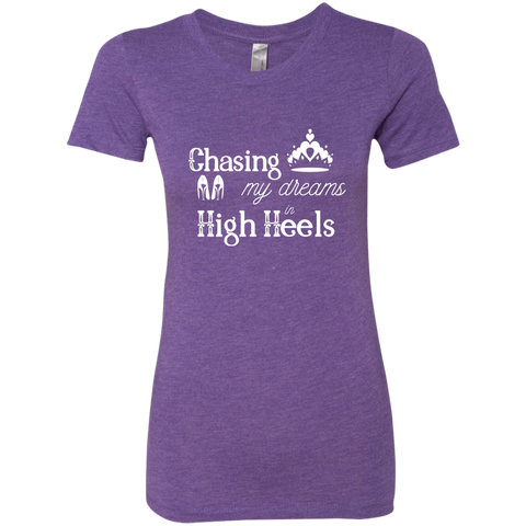 Image of Chasing Dreams in High Heels Ladies' Triblend T-Shirt