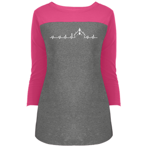 Pageant Heartbeat - 3/4 Sleeve T-Shirt