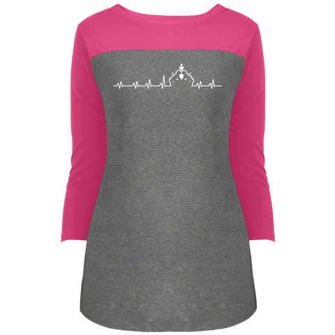 Image of Pageant Heartbeat - 3/4 Sleeve T-Shirt