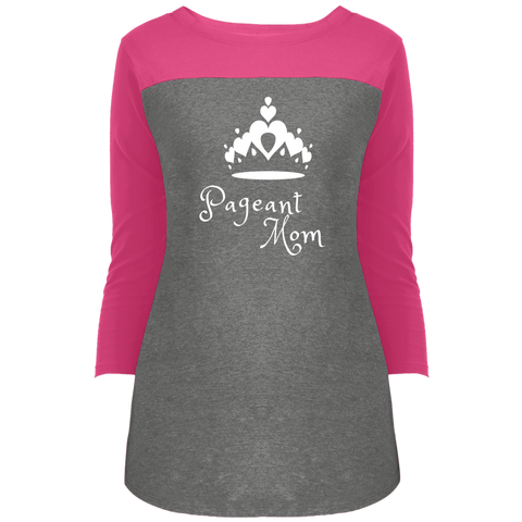 Image of Pageant Mom - 3/4 Sleeve T-Shirt