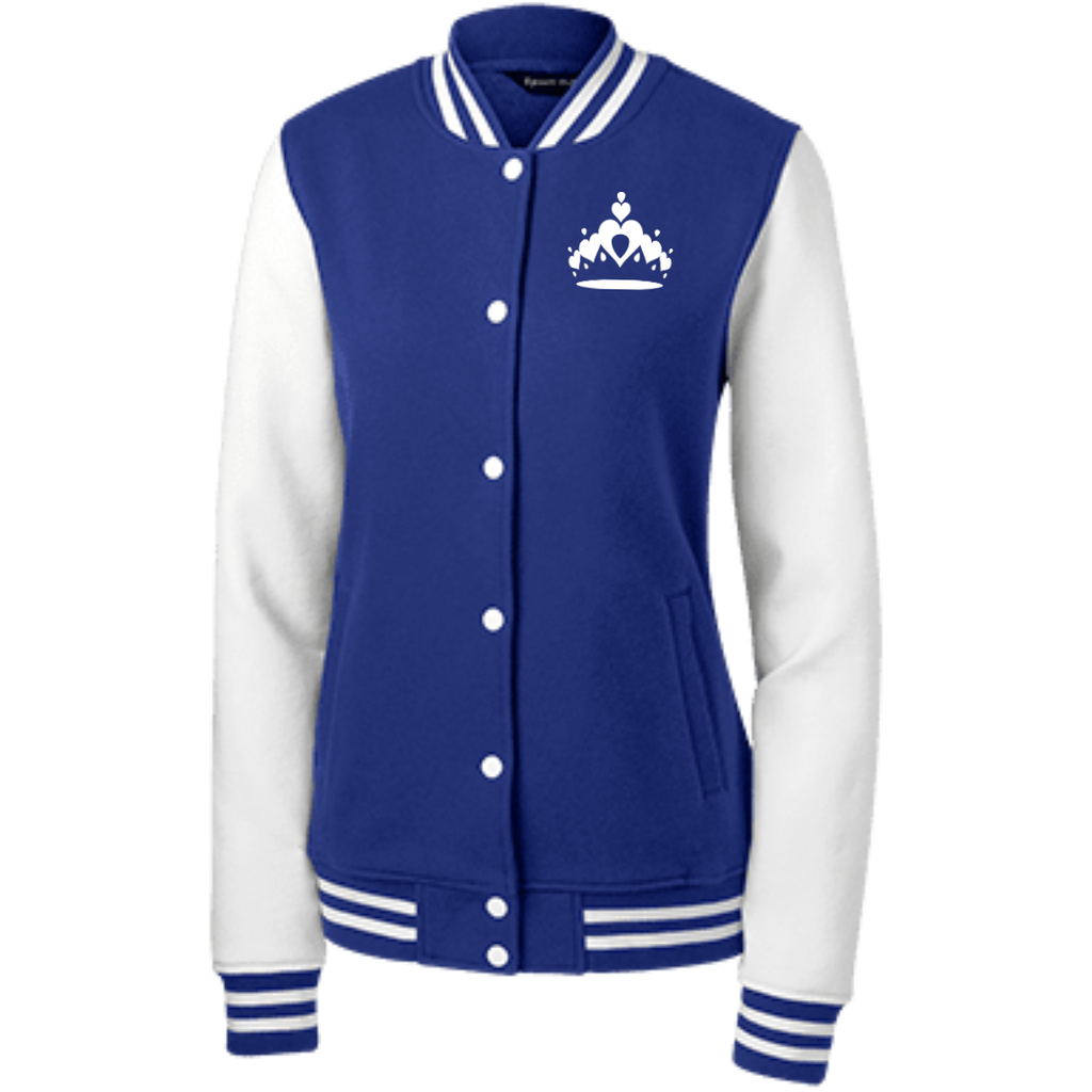 Tiara Women's Fleece Letterman Jacket