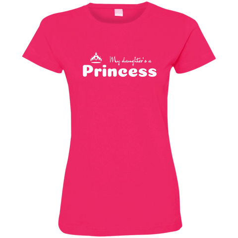 Image of My Daughter's a Princess - Fine Jersey T-Shirt