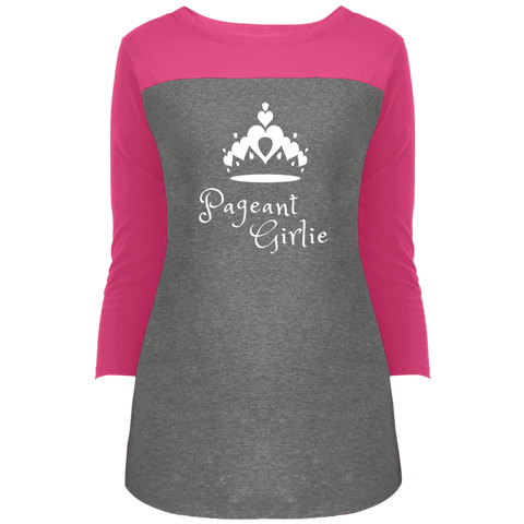 Image of Pageant Girlie -  3/4 Sleeve T-Shirt