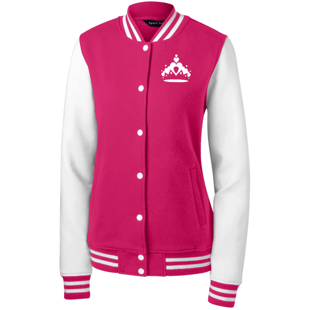 Queen Crown Fleece Letterman Jacket