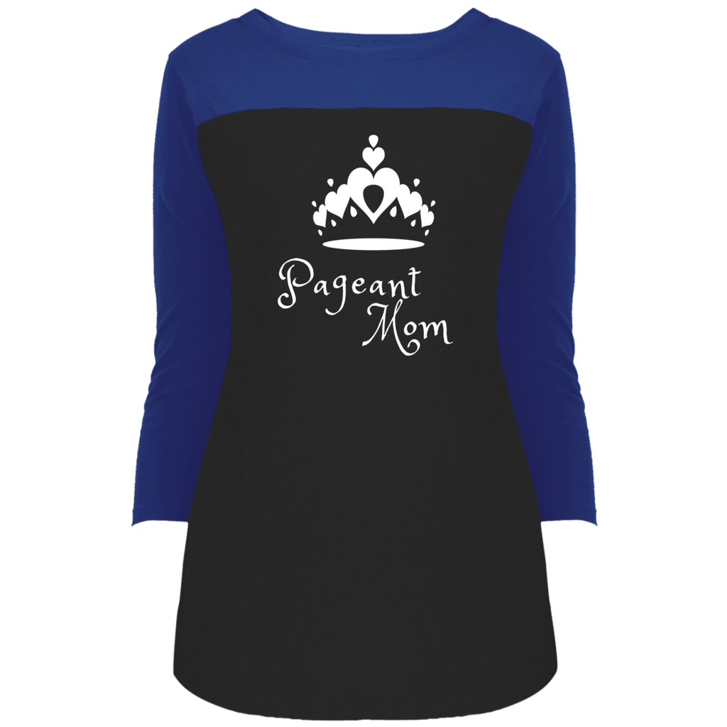 Pageant Mom - 3/4 Sleeve T-Shirt
